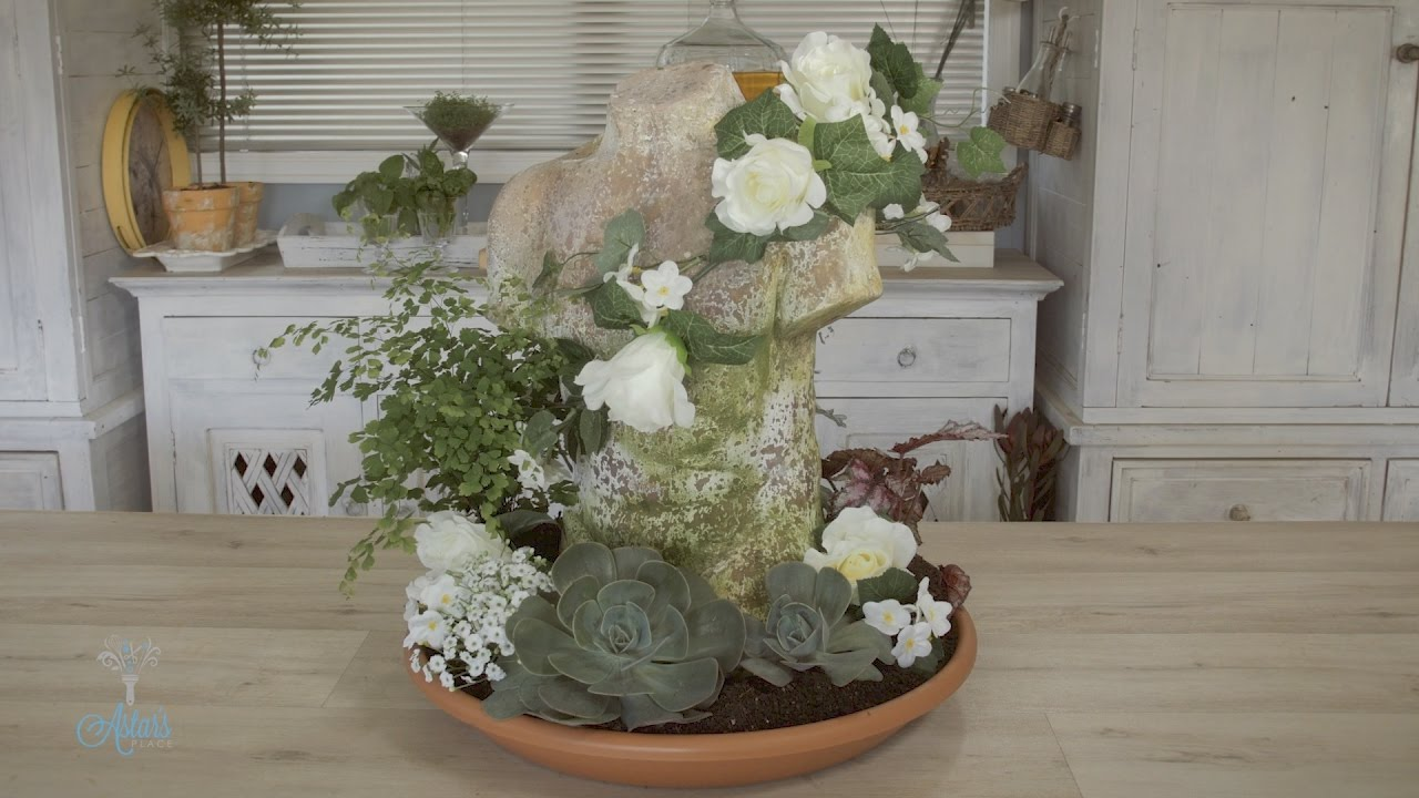 how to make a pot et fleur floral design rustic italian bust