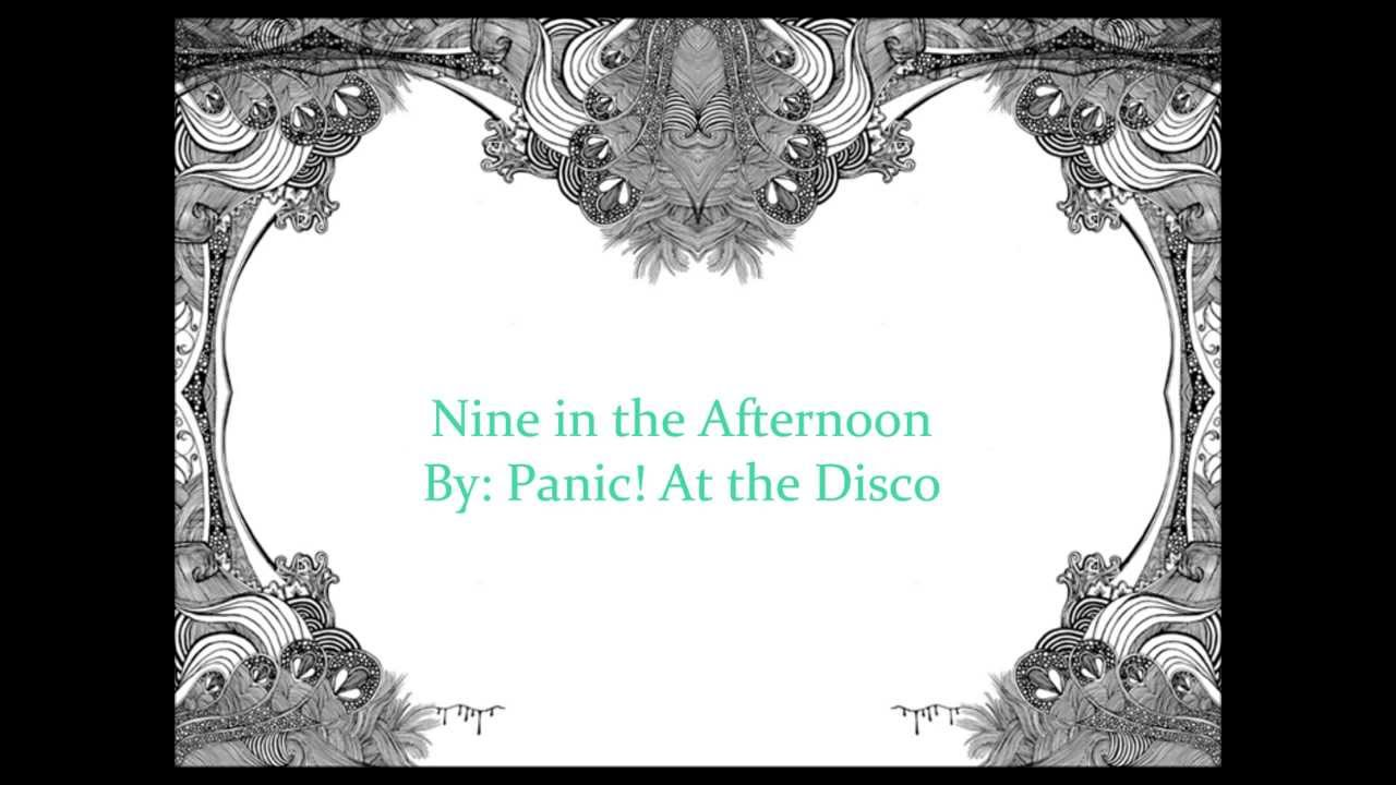 Panic At the Disco Nine in the Afternoon Lyrics Chords   Chordify