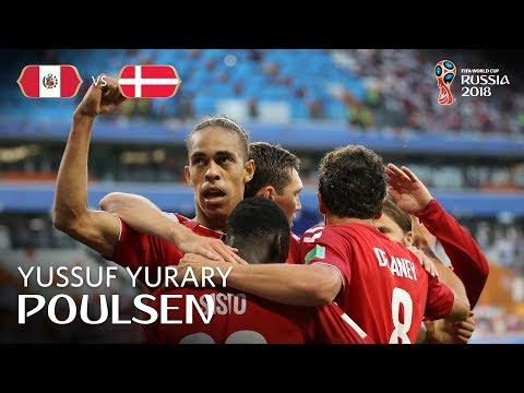 Yussuf Yurary POULSEN Goal - Peru v Denmark - MATCH 6