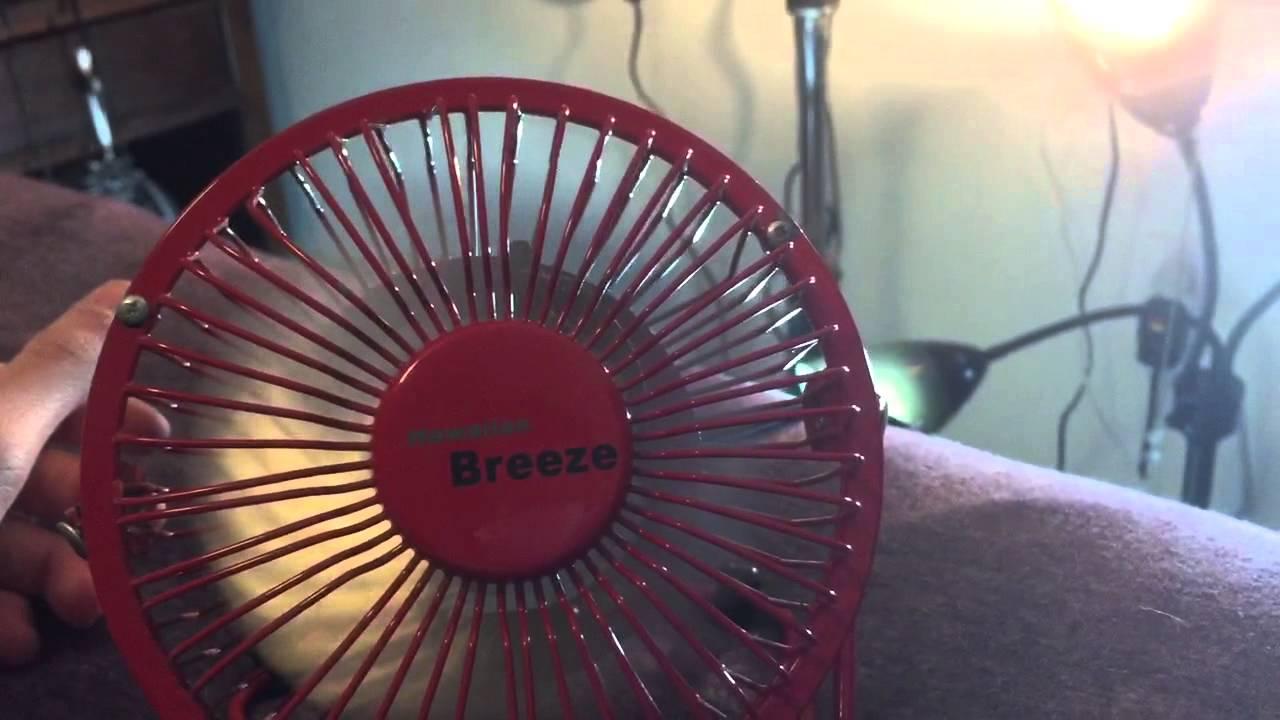 Hawaiian Breeze Red Mini Hv Desk Fan Remake Youtube