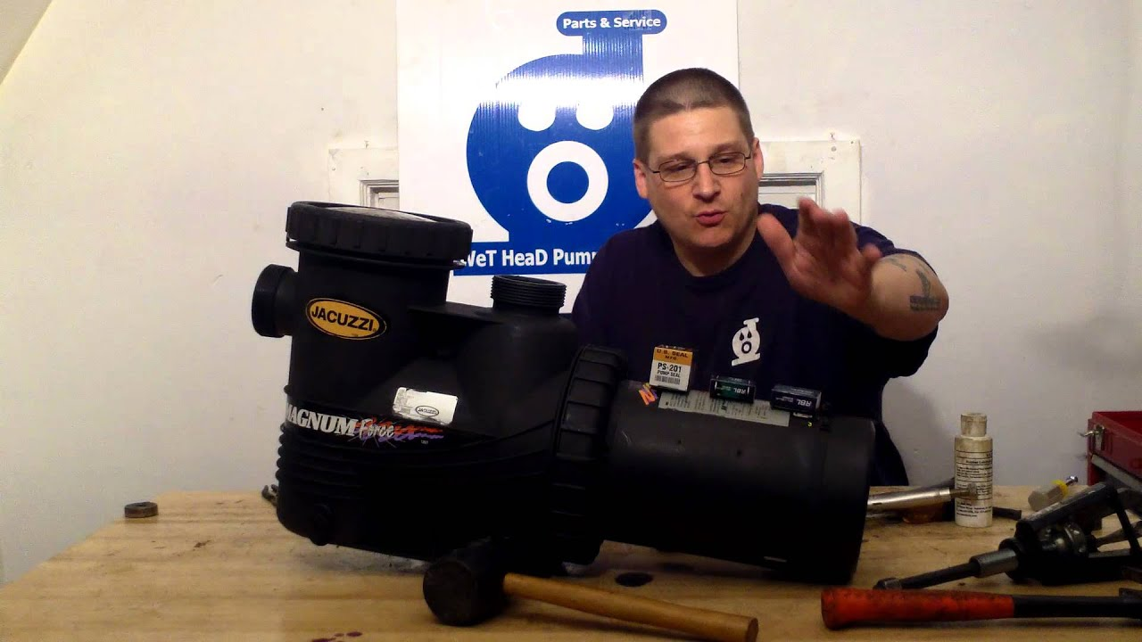 Jacuzzi Pool Pumps Parts Needed To Rebuild The Jacuzzi Magnum Pool Pump Youtube