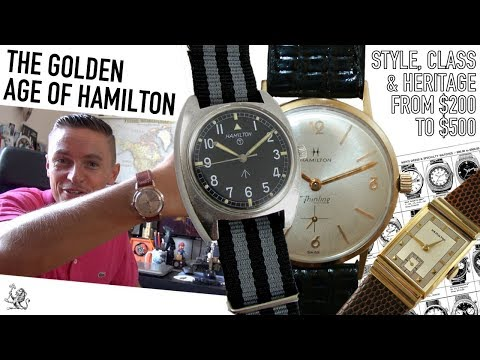 Buying Vintage Watches - 5 Reasons Why Hamilton Are One Of The Best Brands At $200 to $500 (WWT#87)