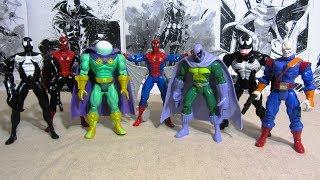 Человек-Паук 1994. 4 волна. Распаковка и обзор фигурок (игрушек) фирмы Toy Biz. Марвел