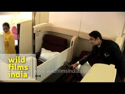 Jet Airways Flight attendent explains luxury service on board
