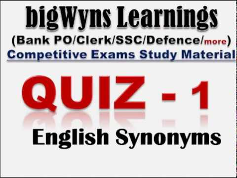 English Synonyms (Quiz)