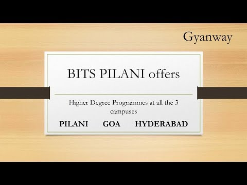 BITS Pilani M.E./M.tech Higher degree admissions- Opportunities after GATE 2018