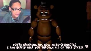 Slenderman Vs Freddy Fazbear Rap Battle REACTION SICK BURNZ