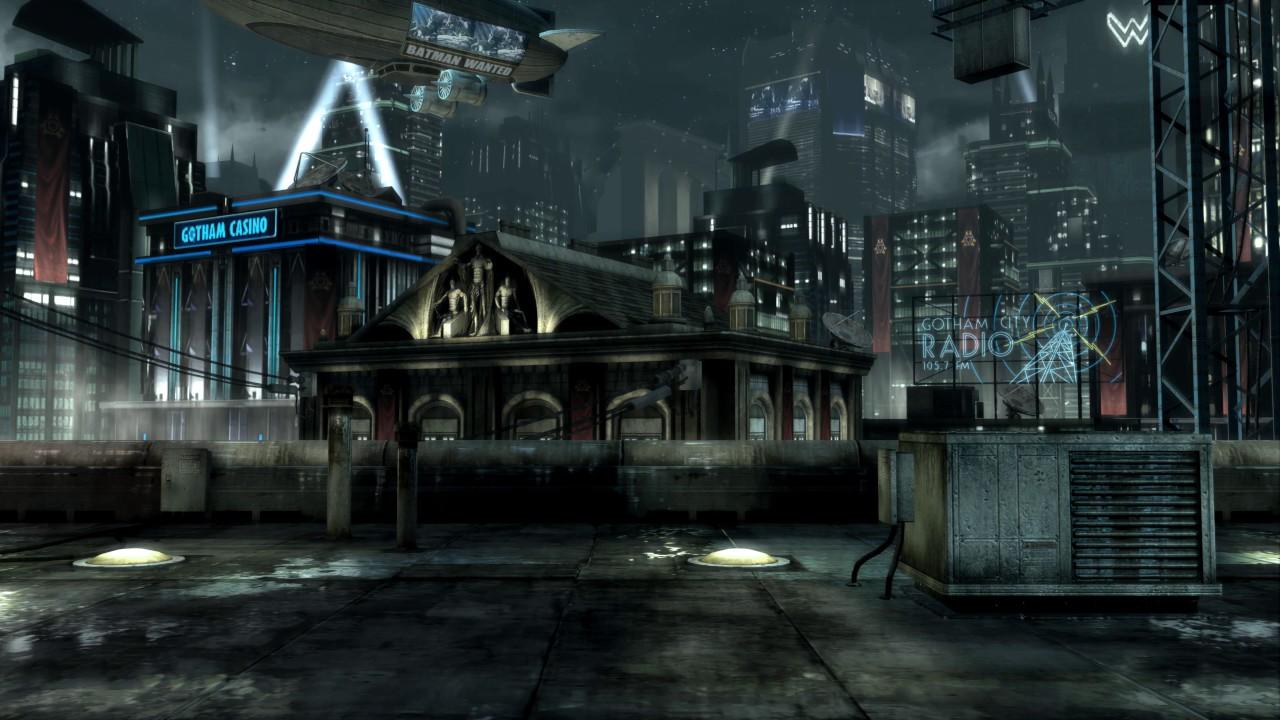 Gotham City Rooftop Injustice Gods Among Us Live Wallpaper