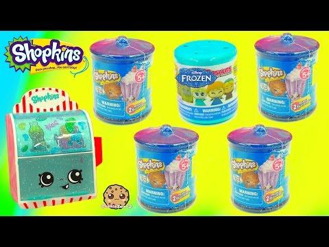 Unboxing 5 Blind Bags - 4 Shopkins Candy Jars & 1 Disney Frozen Fash'ems Surprise