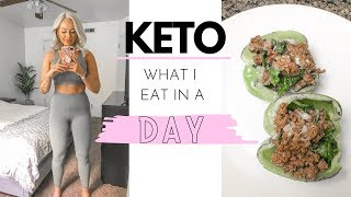 KETO WHAT I EAT IN A DAY | for beginners🥑