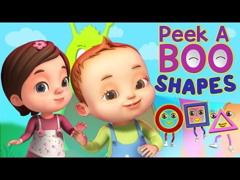 Peekaboo - Shapes Song | Baby Ronnie Rhymes | Videogyan 3D Rhymes | Kids Songs Cartoon Animation