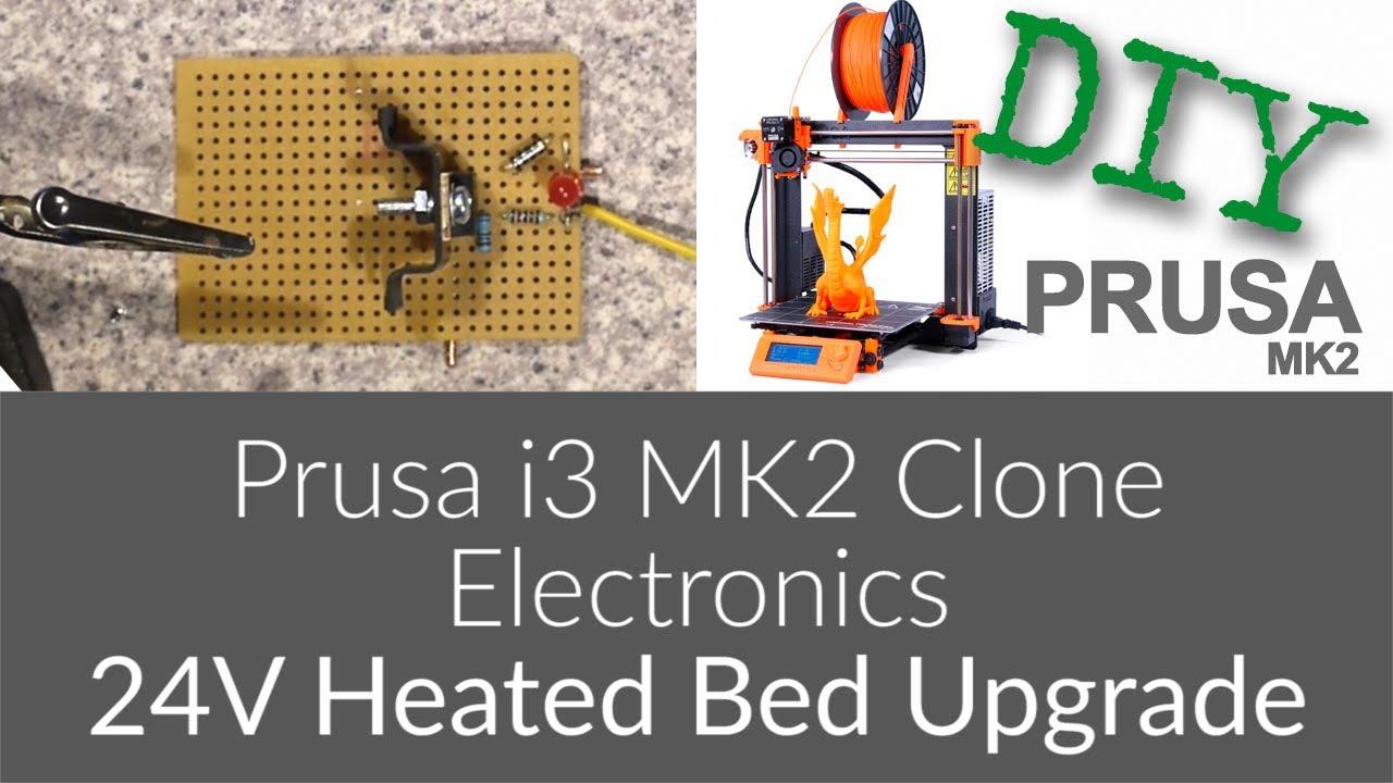 Prusa I3 Mk2 Clone Electronics 24v Heated Bed Upgrade Youtube Reprap Ramps 14 Wiring Nwreprapcom Premium