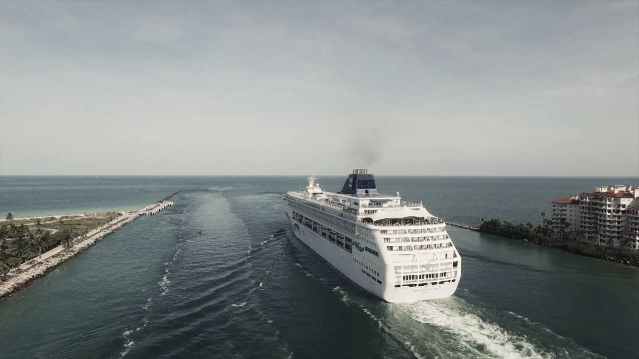 Aerial View Of Cruise Ships Leaving The Port Of Miami YouTube - Cruise ship port in miami