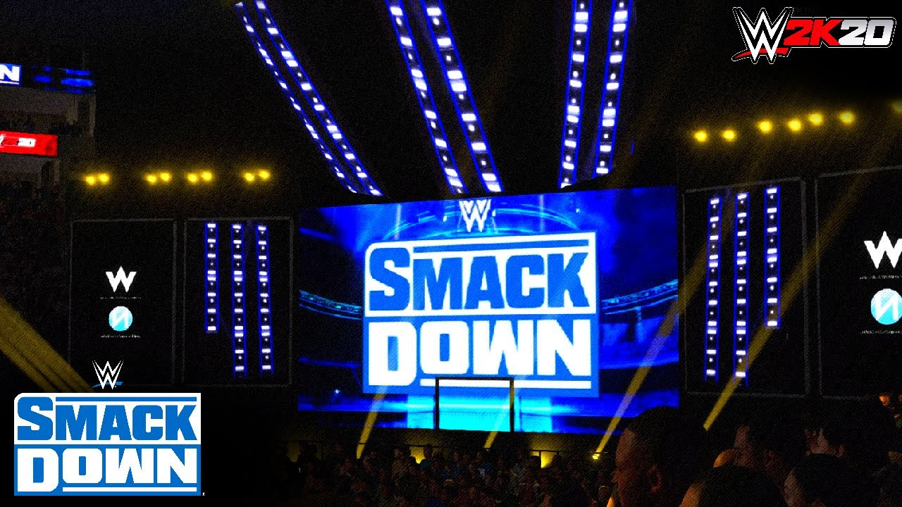 New SmackDown Arena on WWE 2K20 (PS4) w/Nation Studios