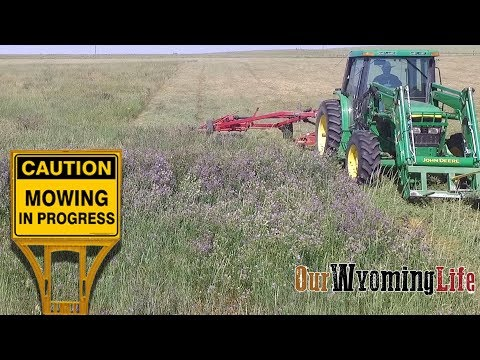 Haying - Mowing It Down on the Ranch & Farming