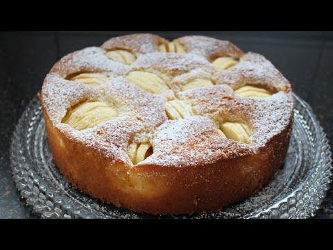 gâteau-aux-pommes-moelleux-et-ultra-rapideكيكة-التفاح-الراقية-ببيضتين-فقطapfelkuchen-super-saftiger