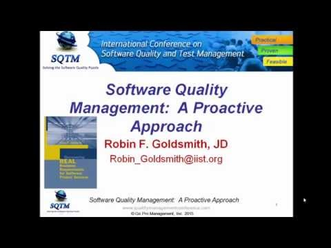 Software Testing Training - Software Quality Management A Proactive Approach