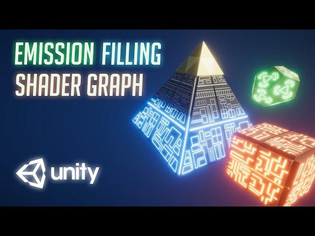 Glowy Emission Filling effect  Shader Graph - Unity Tutorial
