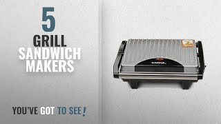 Top 10 Grill Sandwich Makers [2018]: Nova NSG 2449 1000-Watt 2-Slice Sandwich Maker (Black/Grey)