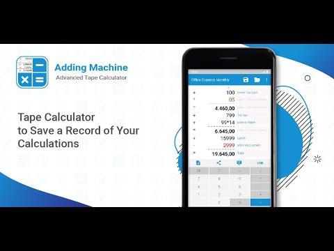 Advanced Adding Machine Tape Calculator