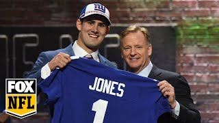 Daniel Jones defends his surprise #6 selection by the New York Giants | FOX NFL