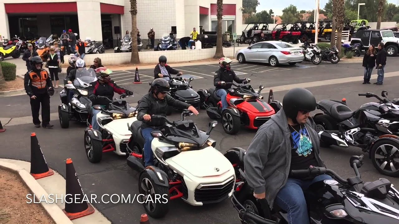 2015 can am spyder f3 first ride youtube. Black Bedroom Furniture Sets. Home Design Ideas
