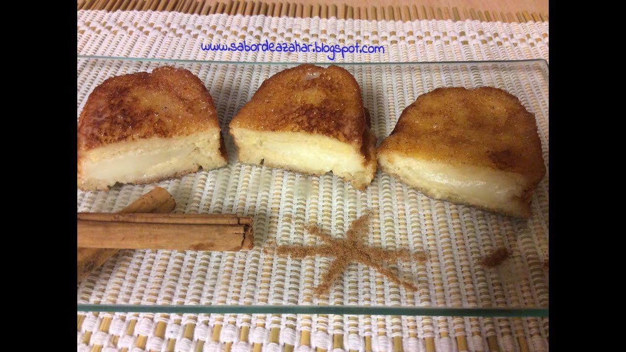 Tutorial torrijas rellenas de crema pastelera receta - Reposteria facil y rapida ...