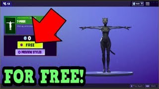 HOW TO GET T POSE EMOTE FOR FREE! (Fortnite Old Emotes)