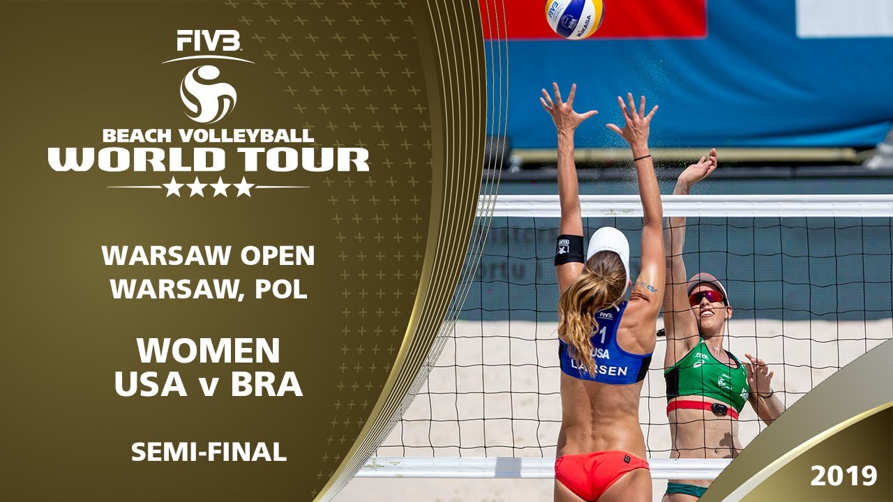 Women's Semi-Final: USA vs BRA | 4* Warsaw (POL) - 2019 FIVB Beach Volleyball World Tour