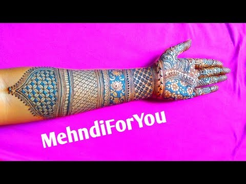New Dulhan mehndi design 2019 || Latest bridal mehndi design || Front hand dulhan mehndi design