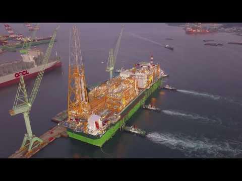 EGINA FPSO Sail away from South Korea