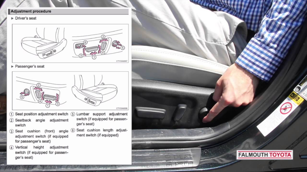 How To Use Toyota Power Memory Seats From Falmouth Toyota
