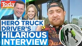 Hero_truck_driver_has_hosts_in_stitches_|_Today_Show_Australia