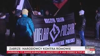 Zabrze: narodowcy kontra Romowie (TVP Info, 21.12.2013)