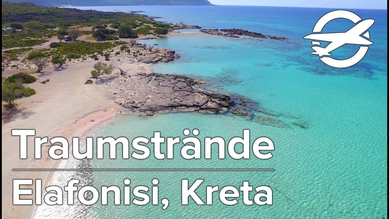 Elafonisi Die Schonsten Strande Auf Kreta Youtube