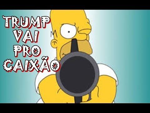 TRUMP VAI PRO CAIXÃO SEGUNDO OS SIMPSONS