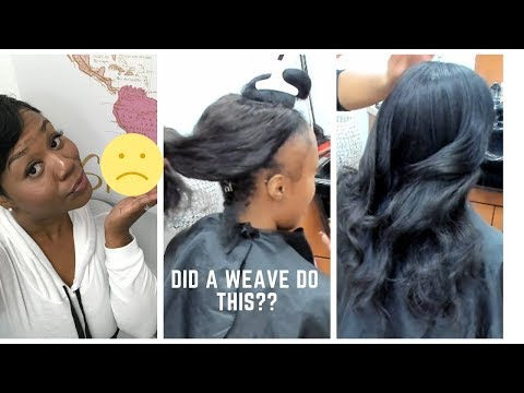 Full sew in with leave out! Middle part!!! Our growth journey day one!