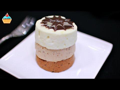 МОРОЖЕНОЕ ТРИ ШОКОЛАДА / ICE-CREAM OUT OF 3 TYPES OF CHOCOLATE.