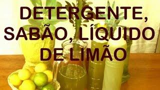 DETERGENTE, SABÃO LÍQUIDO DE LIMÃO