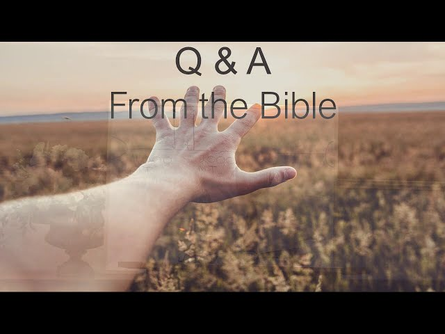 📖 Q & A from the Bible · 200409 Bible Study · Pastor Jerome Pittman