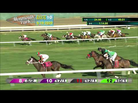 video thumbnail for MONMOUTH PARK 09-19-20 RACE 10 – MAULOUF AUTO GROUP STARTER #4