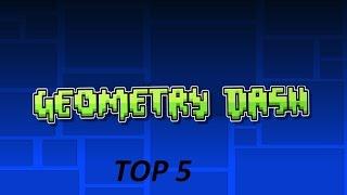 ТОП 5 СТАНДАРТНЫХ УРОВНЕЙ В Geometry Dash