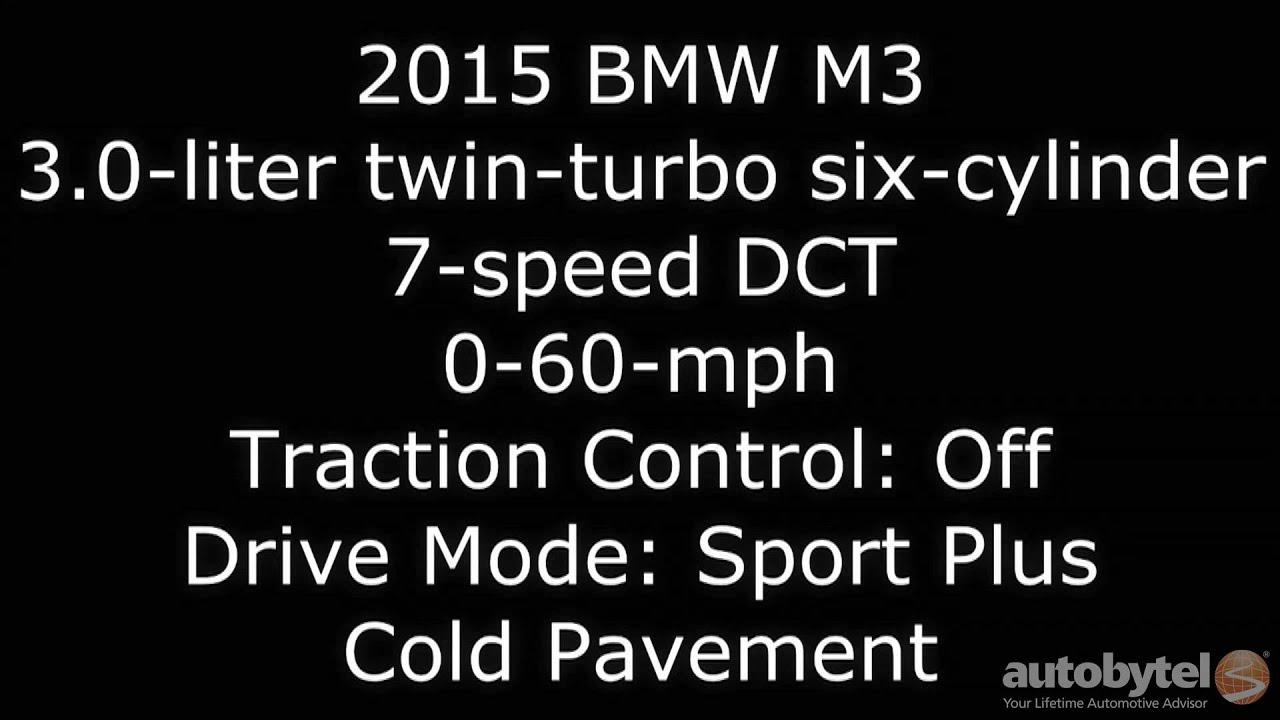 2015 BMW M3 0 60 MPH Test Video 425 HP 3 0L Twin Turbo