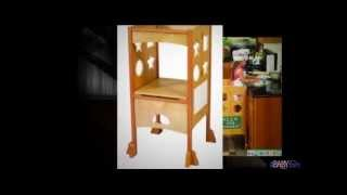 Guidecraft Kitchen Helper - Wooden Step Stools For Kids