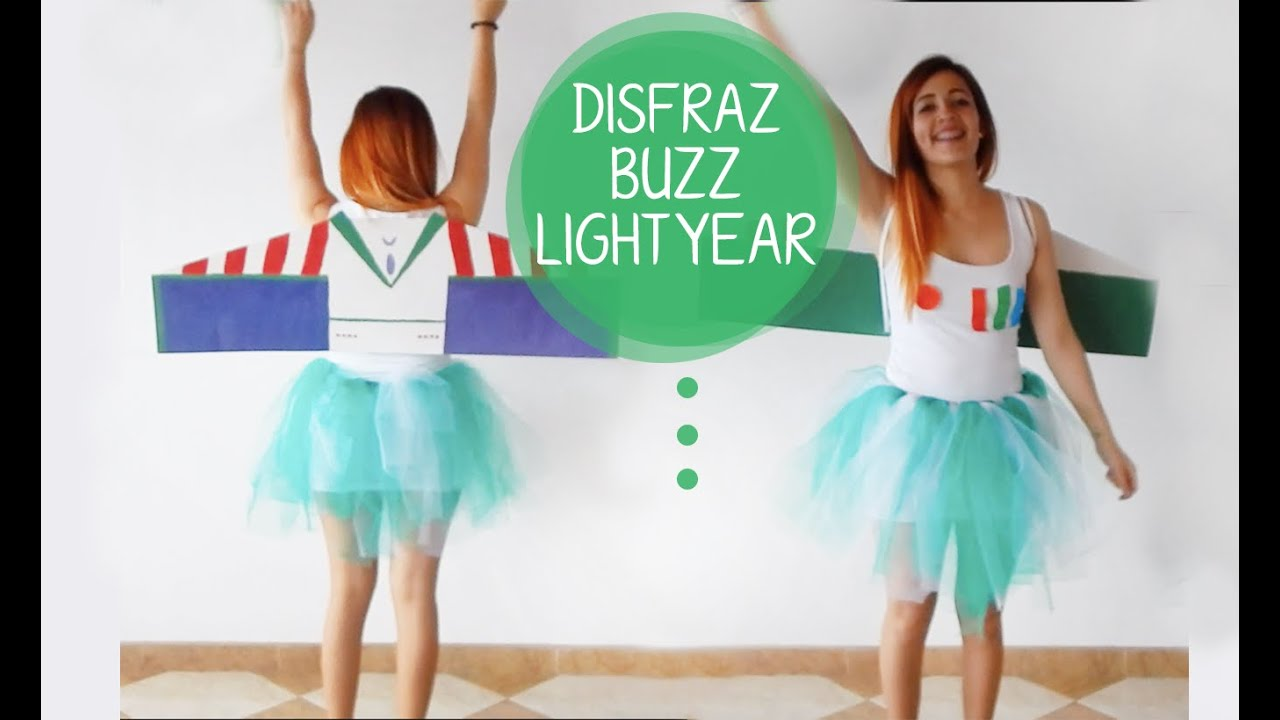 Disfraz Buzz Lightyear Diy Super Facil Mirrormirror Youtube - Disfraz-chica-casero