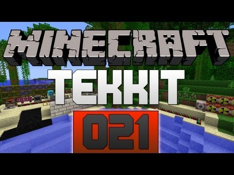 Let's Play Minecraft TEKKIT #021 - Energy Links & Teleport Pipes