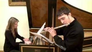 Гендель. Соната ля-минор, ч1 (флейта и клавесин)