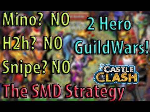 Castle Clash: Tier 1 Guild-Wars With 2 Heroes  | Top 5 | Top Guilds