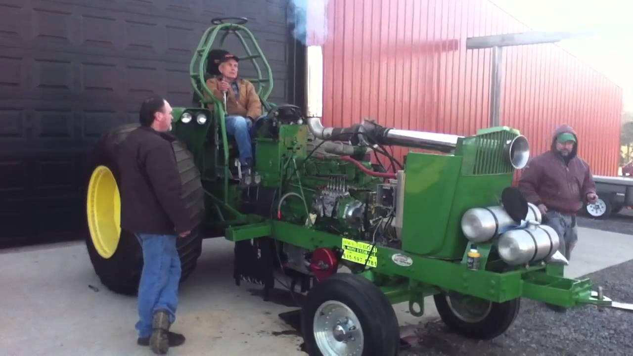 John Deere 6030 Pulling Tractor Youtube