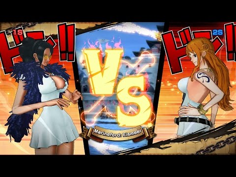 One Piece Burning Blood Gold Pack 2 DLC | Robin vs Nami -  BEST OF 9 | 2 Player Gameplay